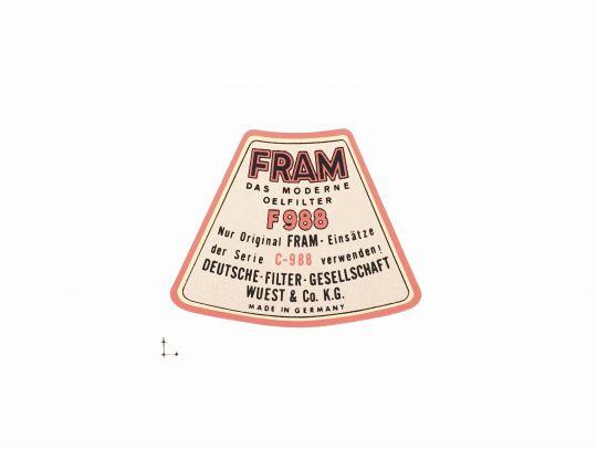 Adesivo Filtro FRAMM