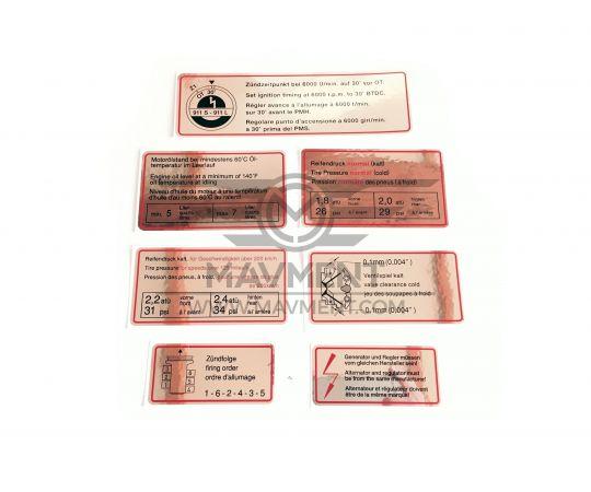 Set Adesivi Bordo Rosso 901 - Repro