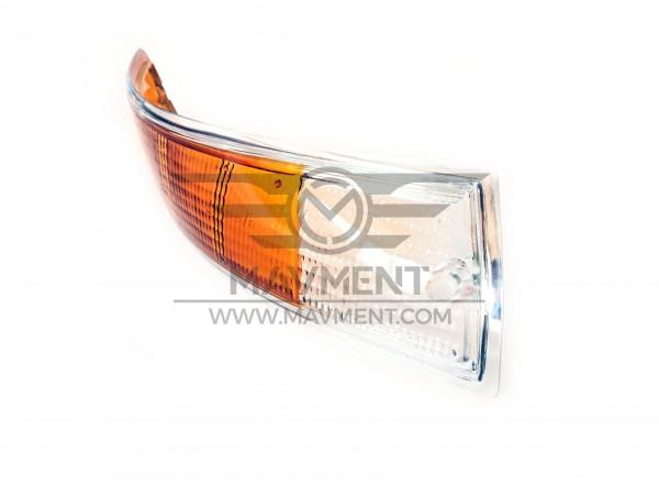 Plastica Fanale Anteriore Destra Bordo Cromo + Orange